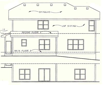 Rear Elevation Plan: 10-1042