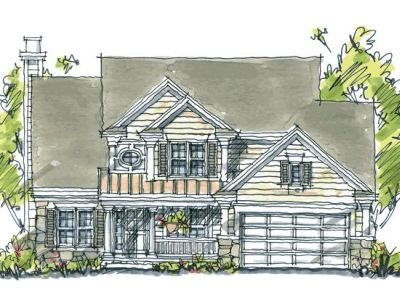 Country Style Home Design Plan: 10-1043