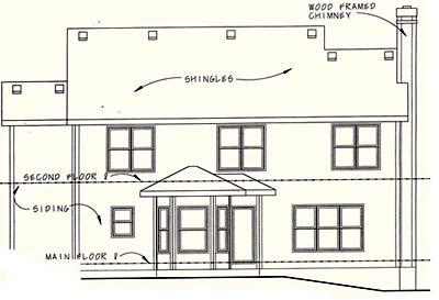 Rear Elevation Plan: 10-1043