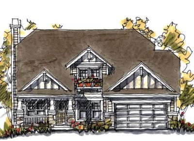 Craftsman Style House Plans Plan: 10-1045