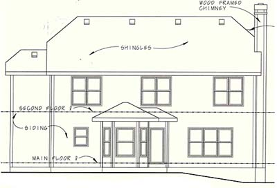 Rear Elevation Plan: 10-1045