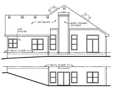 Rear Elevation Plan: 10-1046