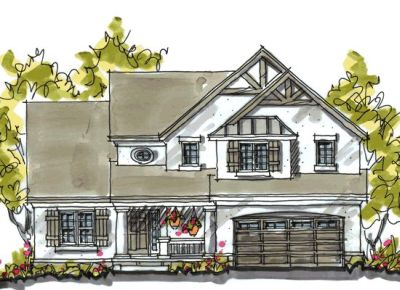 French-country Style Floor Plans Plan: 10-1051
