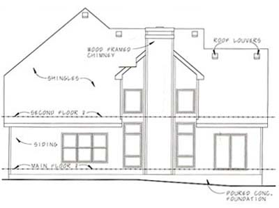 Rear Elevation Plan: 10-1051