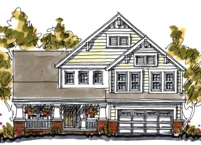 Craftsman Style Home Design 10-1052