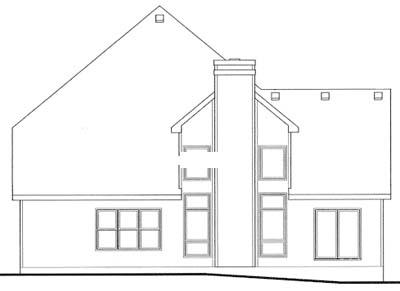 Rear Elevation Plan: 10-1052