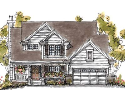 Country Style Home Design Plan: 10-1053