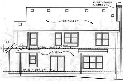 Rear Elevation Plan: 10-1053