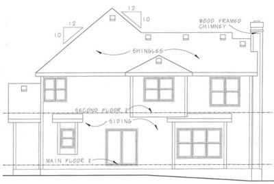 Rear Elevation Plan: 10-1054