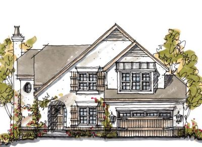 French-country Style House Plans Plan: 10-1055