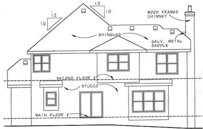 Rear Elevation Plan: 10-1055