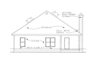 Rear Elevations Plan:10-1058