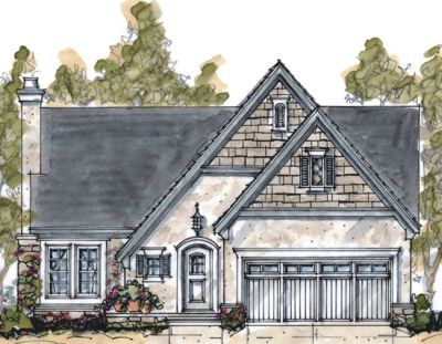 French-country Style House Plans Plan: 10-1059