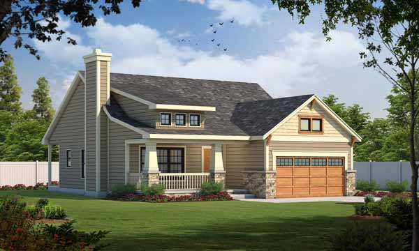 Craftsman Style Floor Plans Plan: 10-1060