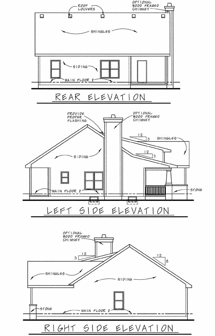 Rear Elevation Plan: 10-1060