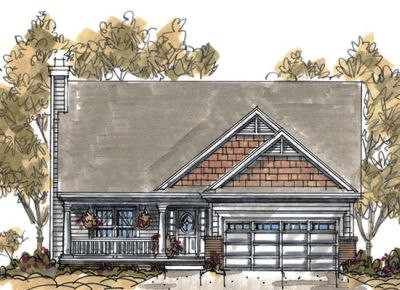 Country Style Floor Plans Plan: 10-1061