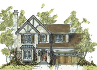 English-country Style House Plans Plan: 10-1063