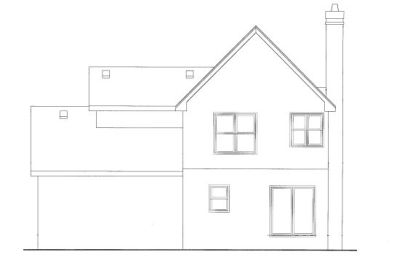 Rear Elevation Plan: 10-1063
