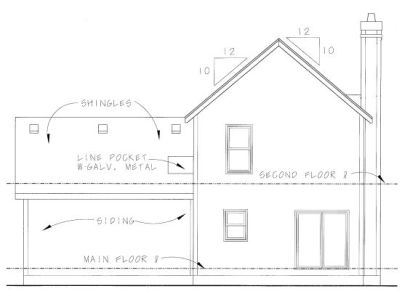 Rear Elevation Plan: 10-1064
