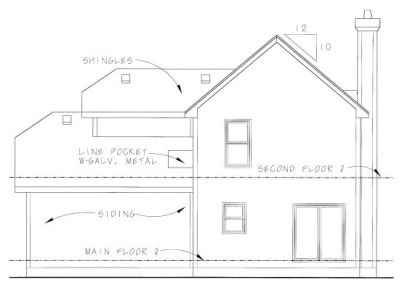 Rear Elevation Plan: 10-1065