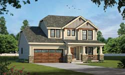 Craftsman Style Home Design Plan: 10-1068
