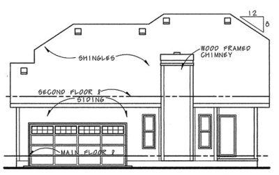 Rear Elevation Plan: 10-1071