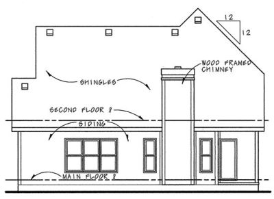 Rear Elevations Plan:10-1072