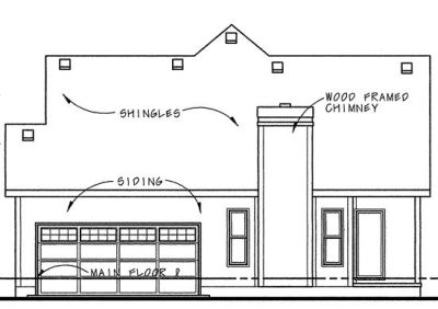 Rear Elevation Plan: 10-1073