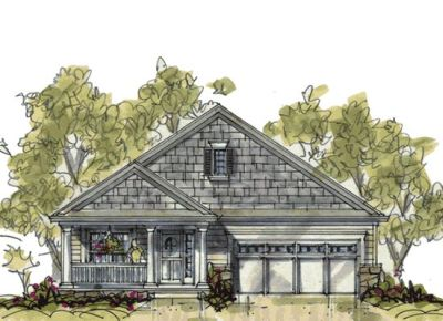 Bungalow Style Home Design Plan: 10-1075