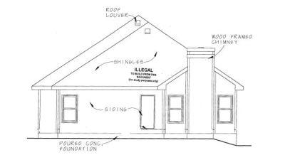 Rear Elevation Plan: 10-1075