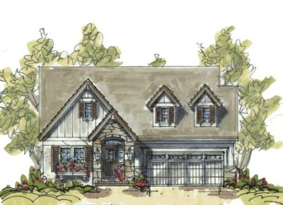 English-country Style Home Design Plan: 10-1076