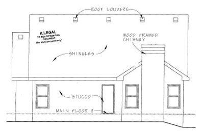 Rear Elevation Plan: 10-1076