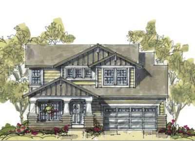 Craftsman Style Home Design 10-1077