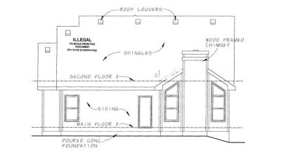 Rear Elevation Plan: 10-1077