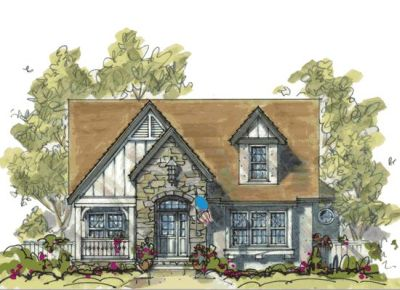 English-country Style House Plans Plan: 10-1079