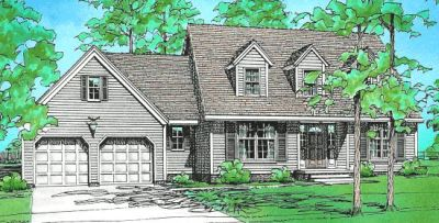 Country Style Home Design Plan: 10-108