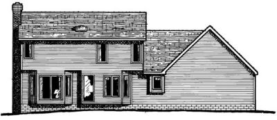 Rear Elevation Plan: 10-108