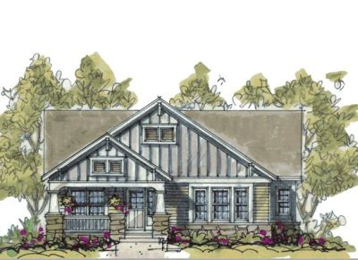 Craftsman Style Home Design Plan: 10-1080