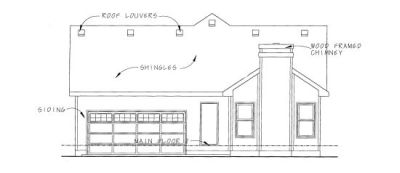 Rear Elevation Plan: 10-1080