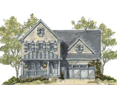 French-country Style Home Design Plan: 10-1082