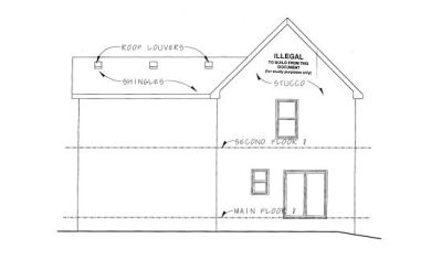 Rear Elevation Plan: 10-1082