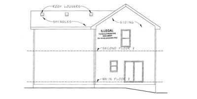 Rear Elevation Plan: 10-1083