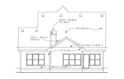 Rear Elevation Plan: 10-1087