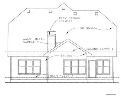 Rear Elevations Plan:10-1089