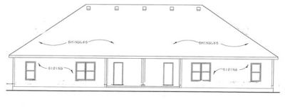 Rear Elevation Plan: 10-1090