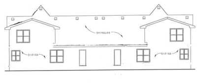 Rear Elevation Plan: 10-1091