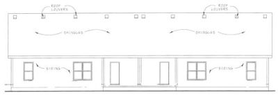 Rear Elevation Plan: 10-1092