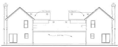 Rear Elevation Plan: 10-1093