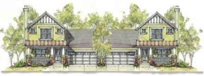 Craftsman Style Home Design Plan: 10-1095