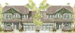 Craftsman Style Home Design Plan: 10-1098